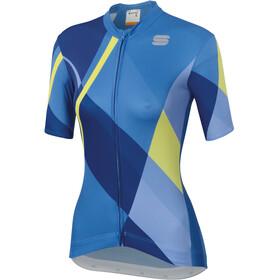 Sportful Aurora Fietsshirt korte mouwen Dames blauw